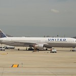 United Airlines Boeing 767 N649UA at Newark Liberty Airport.